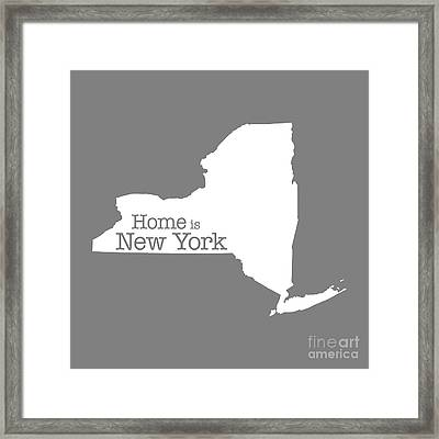 Home Is New York Framed Print by Bruce Stanfield