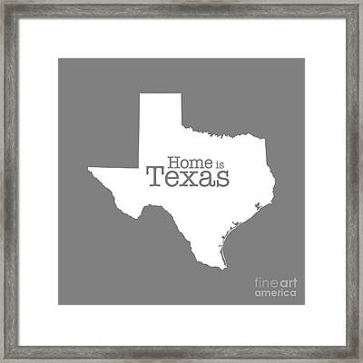 Home Is Texas Framed Print by Bruce Stanfield