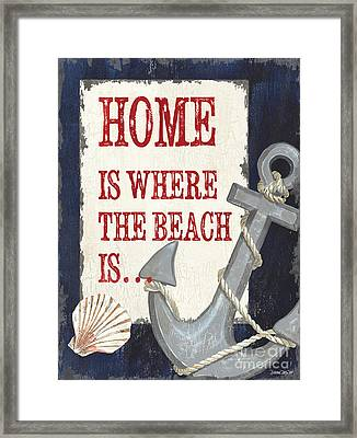Home Is Where The Beach Is Framed Print by Debbie DeWitt