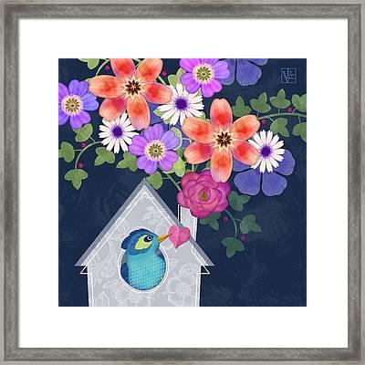 Home Is Where You Bloom Framed Print by Valerie Drake Lesiak