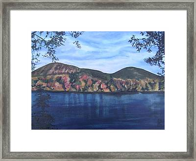 Home-mont St-hilaire Framed Print by Therese Legere