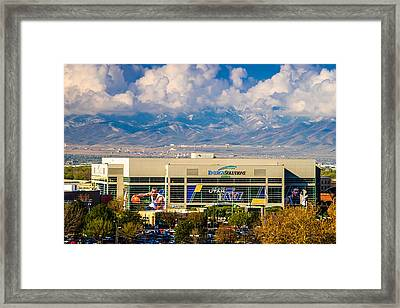 Home Of The Utah Jazz Framed Print by TL  Mair