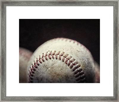 Home Run Ball Framed Print by Lisa Russo