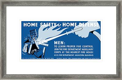 Home Safety Is Home Defense Framed Print by War Is Hell Store