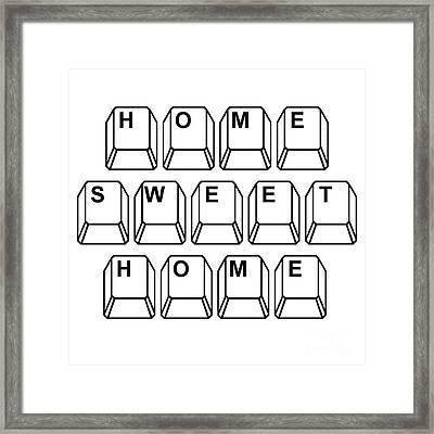 Home Sweet Home Framed Print by Edward Fielding