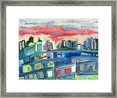 Home To The Softer Side Of City Framed Print by Betty Pieper
