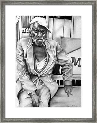 Homeless Framed Print by Carey Davis