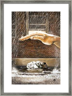 Homeless Framed Print by Michelle Iglesias