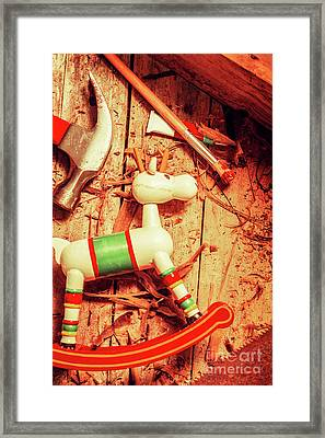 Homemade Christmas Toy Framed Print by Jorgo Photography - Wall Art Gallery
