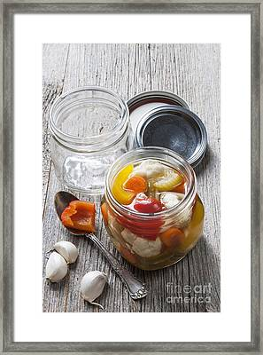 Homemade Preserving Framed Print by Elena Elisseeva