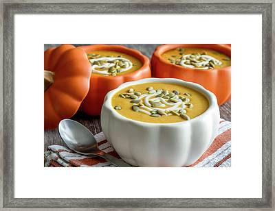 Homemade Pumpkin Soup Framed Print by Teri Virbickis