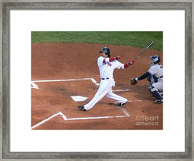 Homerun Swing Framed Print by Kevin Fortier