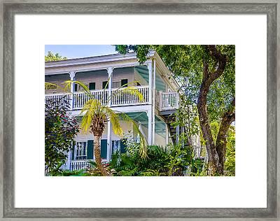 Homes Of Key West 1 Framed Print by Julie Palencia