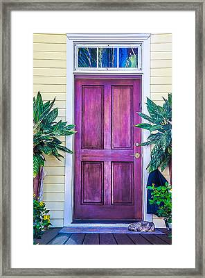 Homes Of Key West 11 Framed Print by Julie Palencia