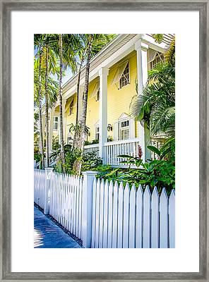 Homes Of Key West 14 Framed Print by Julie Palencia