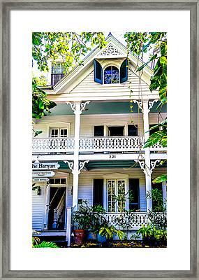 Homes Of Key West 2 Framed Print by Julie Palencia