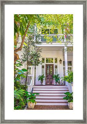 Homes Of Key West 4 Framed Print by Julie Palencia