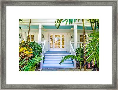Homes Of Key West 5 Framed Print by Julie Palencia