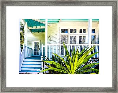 Homes Of Key West 6 Framed Print by Julie Palencia