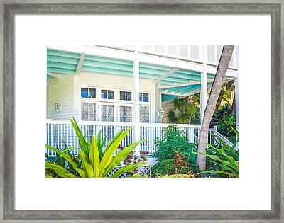 Homes Of Key West 7 Framed Print by Julie Palencia
