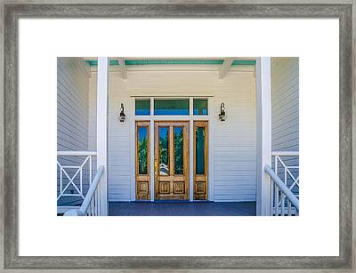 Homes Of Key West 8 Framed Print by Julie Palencia