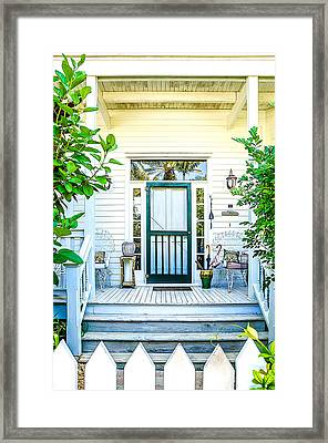 Homes Of Key West 9 Framed Print by Julie Palencia