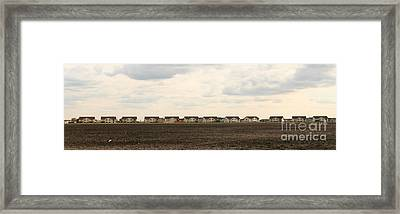 Homes On The Prairie Framed Print by Steve Augustin