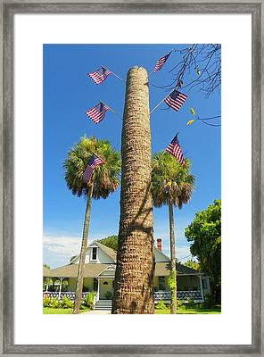 Hometown Fourth Framed Print by Sheri McLeroy
