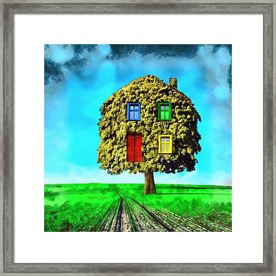 Hometree Framed Print by Leonardo Digenio