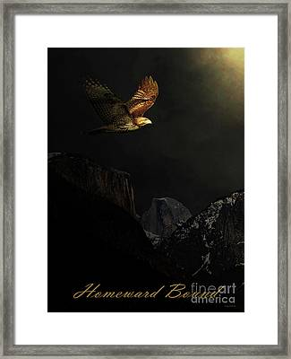Homeward Bound . With Text Framed Print by Wingsdomain Art and Photography