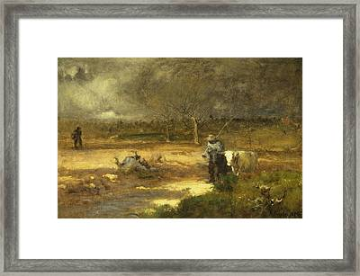 Homeward Framed Print by George Inness