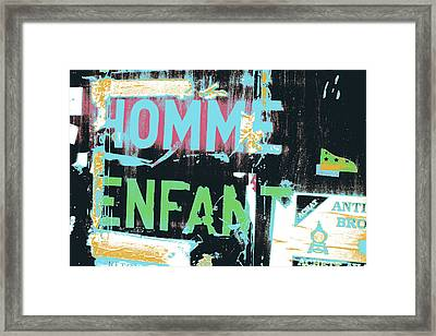 Homme Enfant Framed Print by Shay Culligan