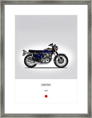 Honda Cb750 1971 Framed Print by Mark Rogan