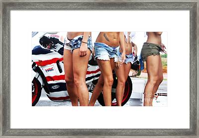 Honda Racing Framed Print by Steven  Digman
