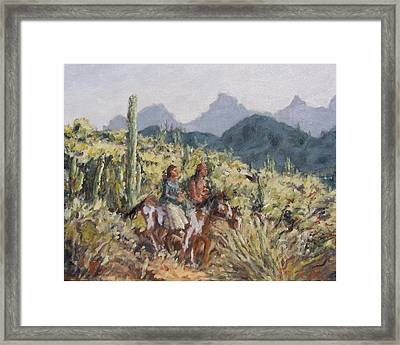 Honeymoon Trail Framed Print by Gretchen Price