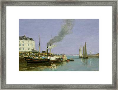 Honfleur Framed Print by Eugene Louis Boudin