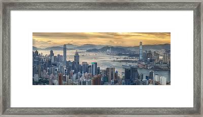 Hong Kong And Kowloon Framed Print by Anek Suwannaphoom