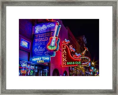 Honky Tonk Broadway Framed Print by Stephen Stookey