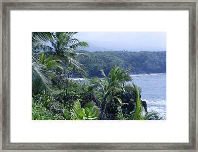 Honomaele Near Mokulehua At Hale O Piilani Heiau Hana Maui Hawaii Framed Print by Sharon Mau