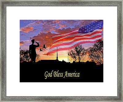 Honor And Pride Framed Print by Adele Moscaritolo