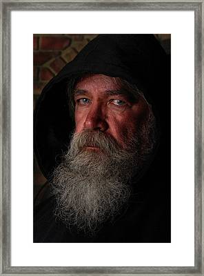 Hooded Framed Print by Paul Wash