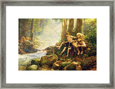 Hook Line And Summer Framed Print by Greg Olsen