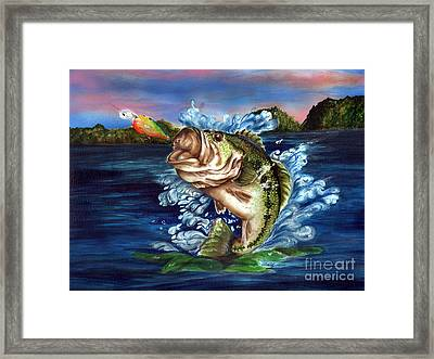 Hooked Framed Print by Kathleen Kelly Thompson
