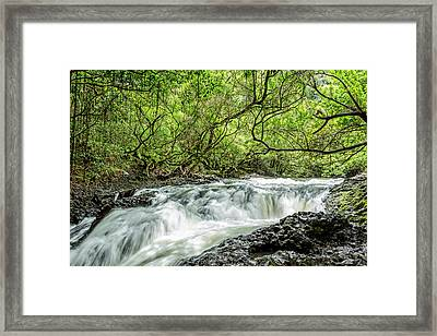 Ho'olawa Stream Framed Print by Kelley King