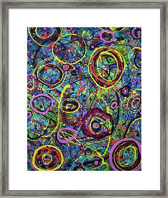 Hoopla Framed Print by Lynda Lehmann