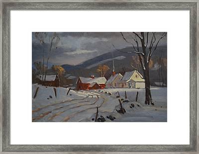 Hoosac Valley Farm Framed Print by Len Stomski