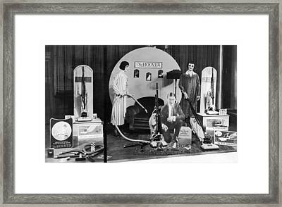 Hoover Vacuums Display Framed Print by Underwood Archives