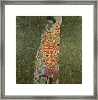 Hope II Framed Print by Gustav Klimt