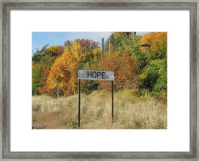 Hope Framed Print by Joylyn McChesnie