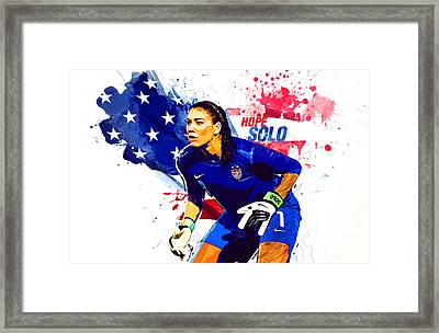 Hope Solo Framed Print by Semih Yurdabak